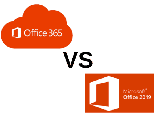 office 365 vs Microsoft Office 2019