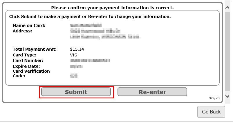 PayNow Submit Payment